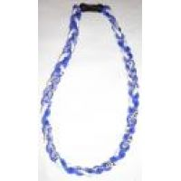 Rico Titanium Blue/White Tornado Necklace